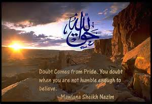 pride and doubt