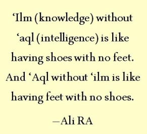 knowledge without aql