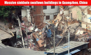 Collapsed building in Guangzhou